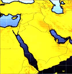 Middle East area map